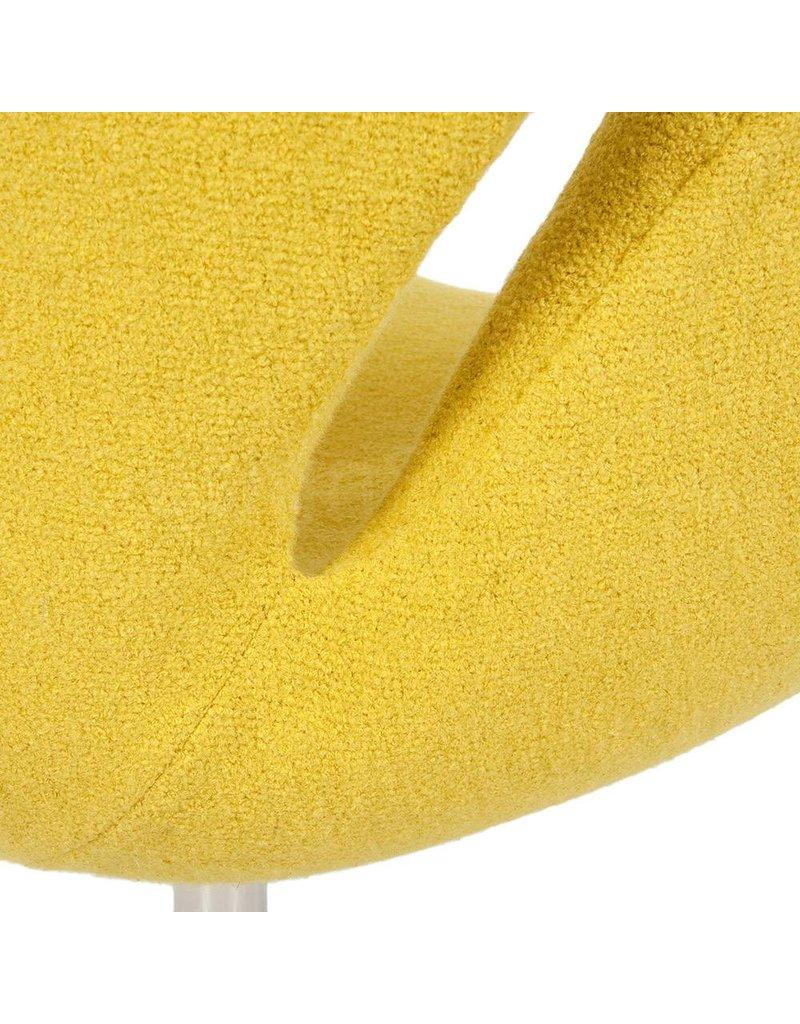 Swan chair Mustard Wool