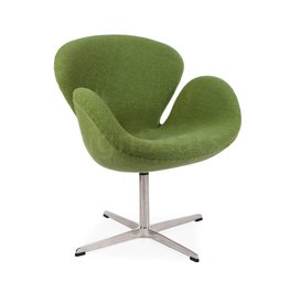 Swan chair Olivegreen Wool