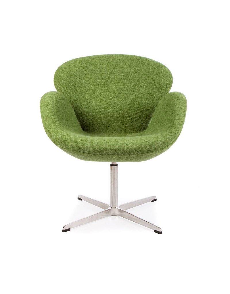 Swan chair Olivegreen Wool