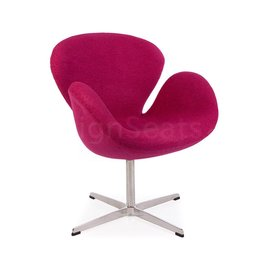 Swan chair Roze Wool