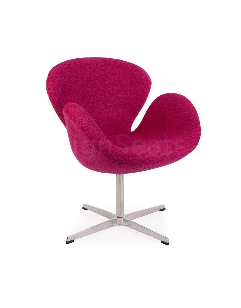 Swan chair Pink Wool