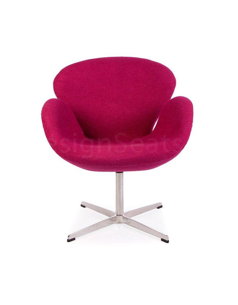 Swan chair Roze Wool