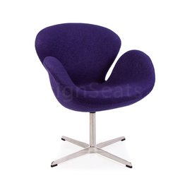 Swan chair Paars Wool