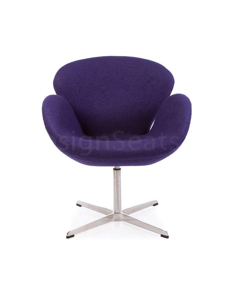 Swan chair Paars Wool