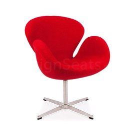Swan chair Rood Wool