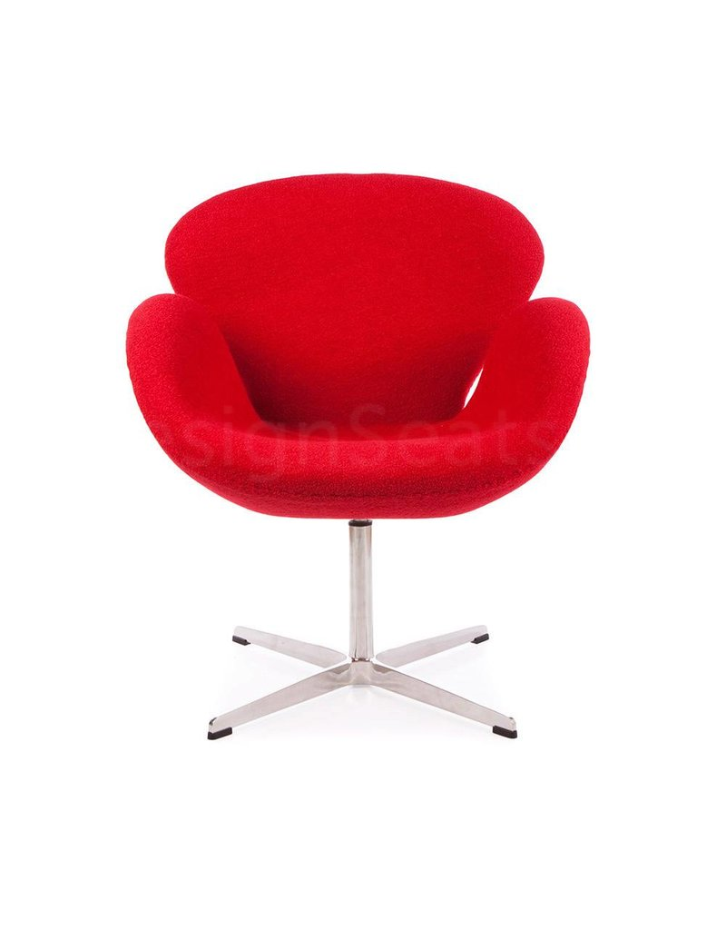 Swan chair Red Wool