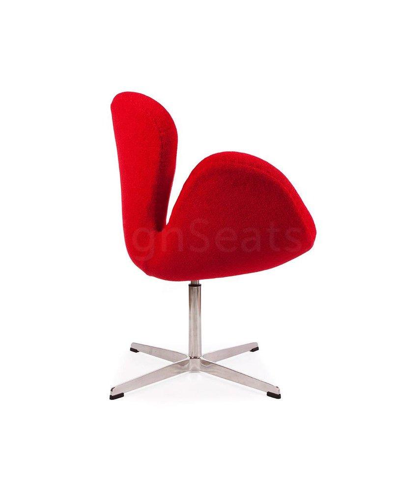 Swan chair Rood Wool