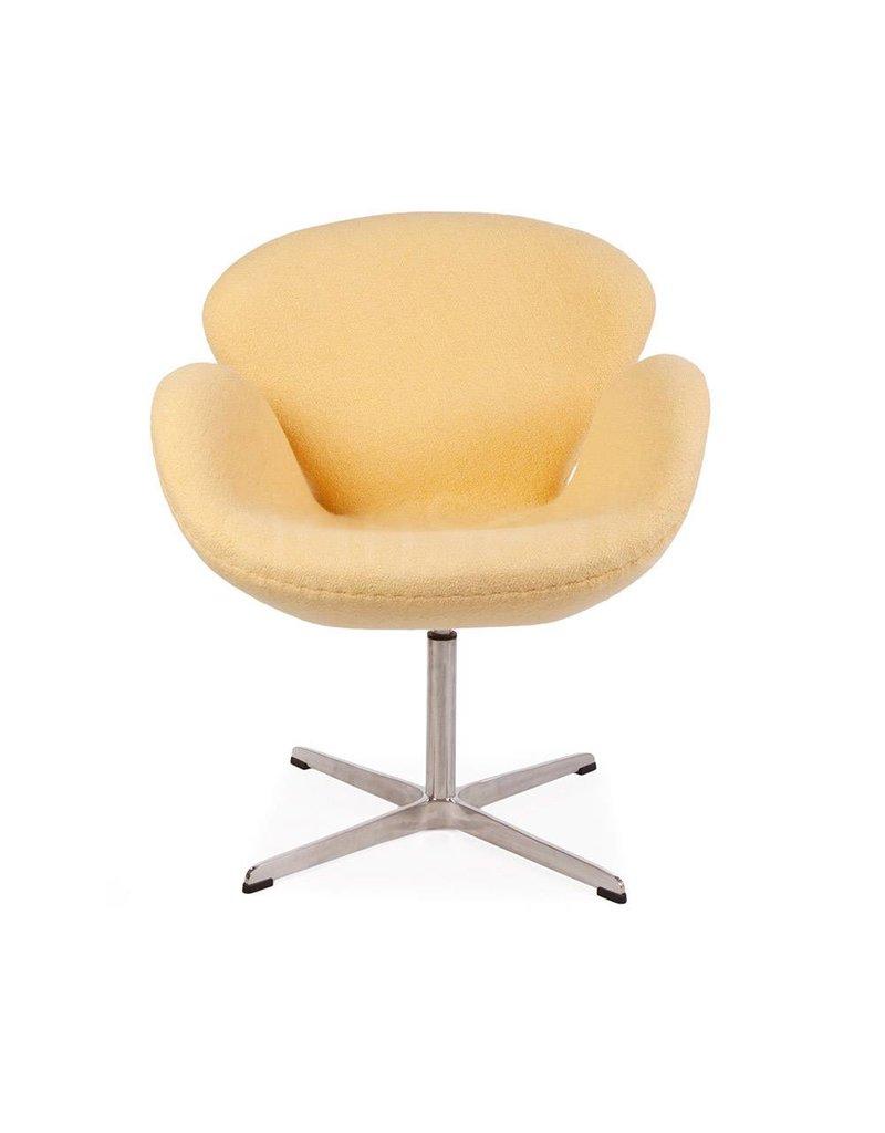 Swan chair Yellow Wool