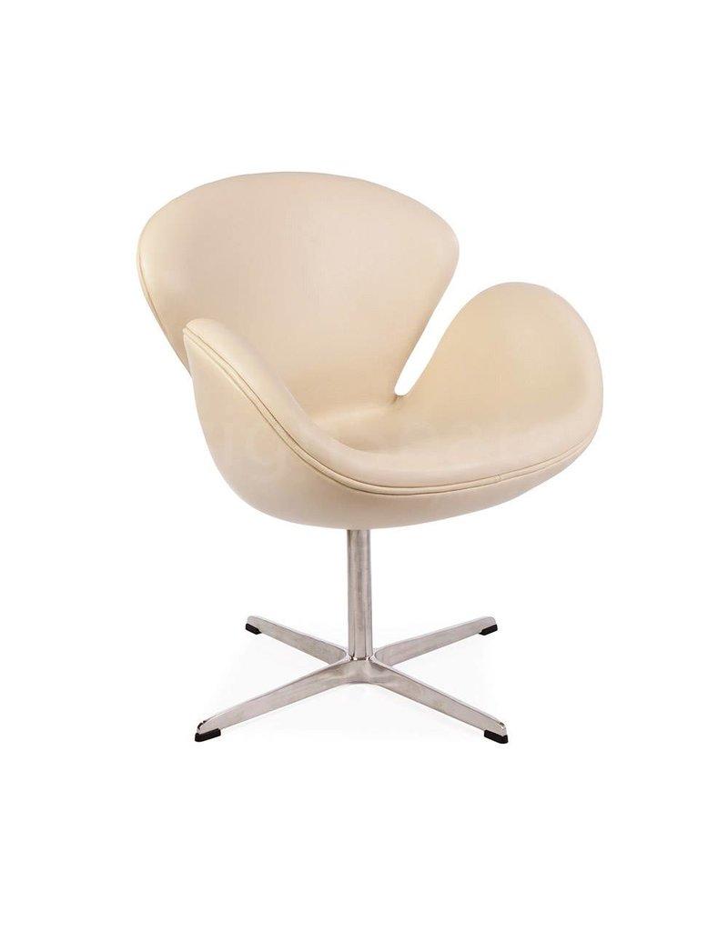 Swan chair Beige Leer