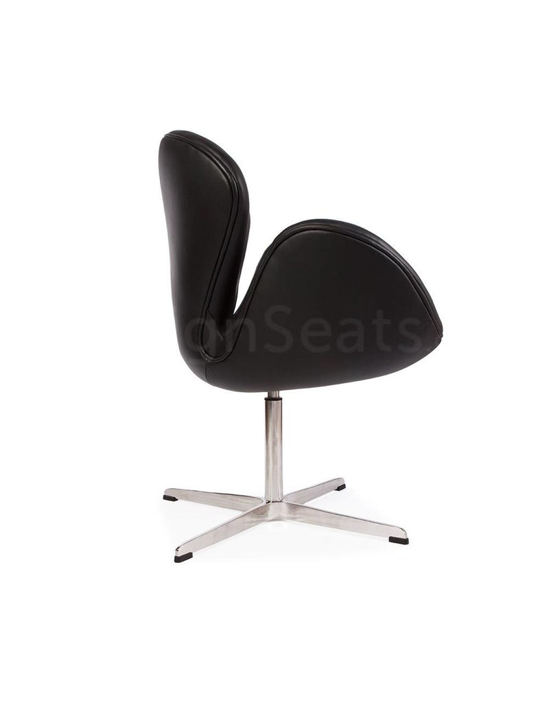 Swan chair Black Leather