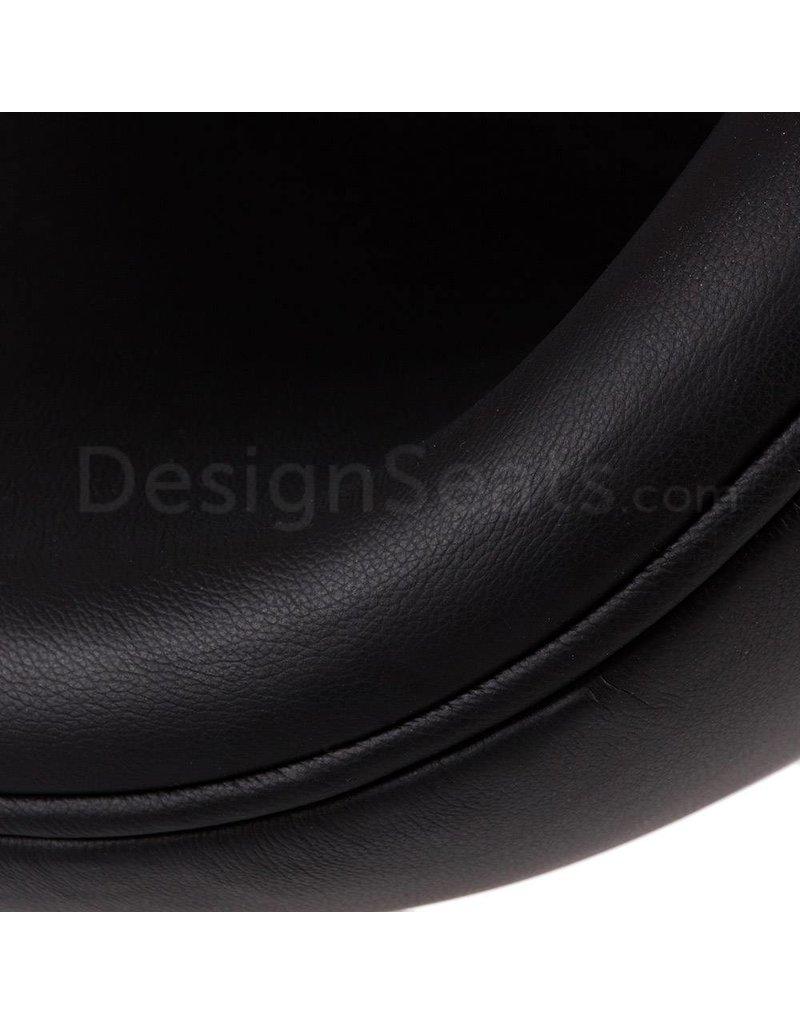 Swan chair Zwart Leer