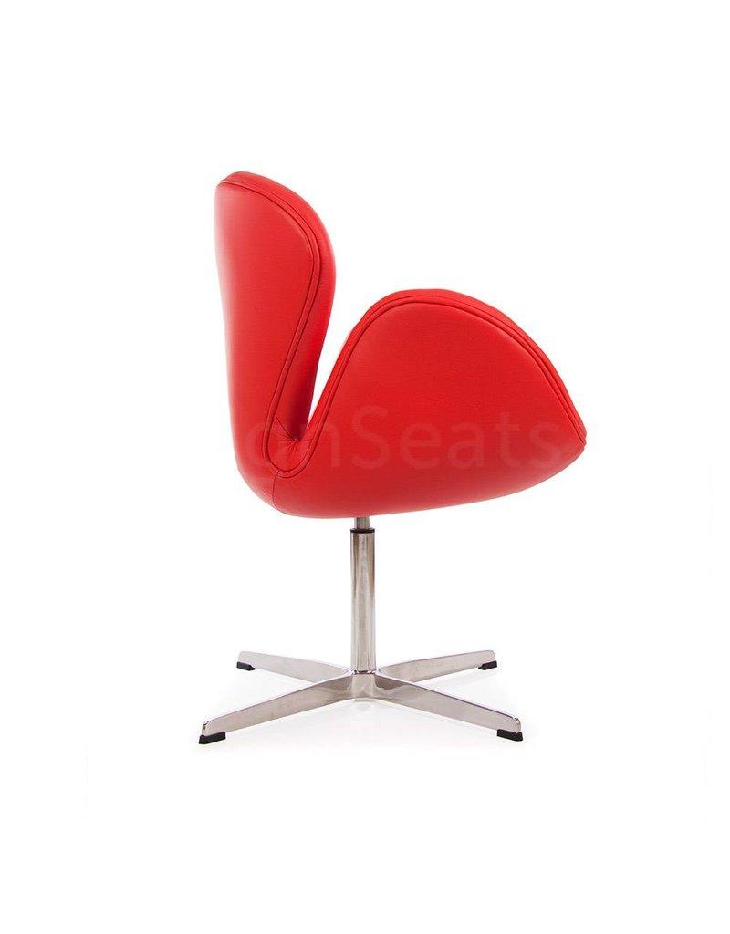 Swan chair Rood Leer