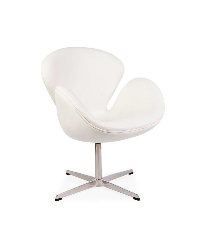 Swan chair White Leather