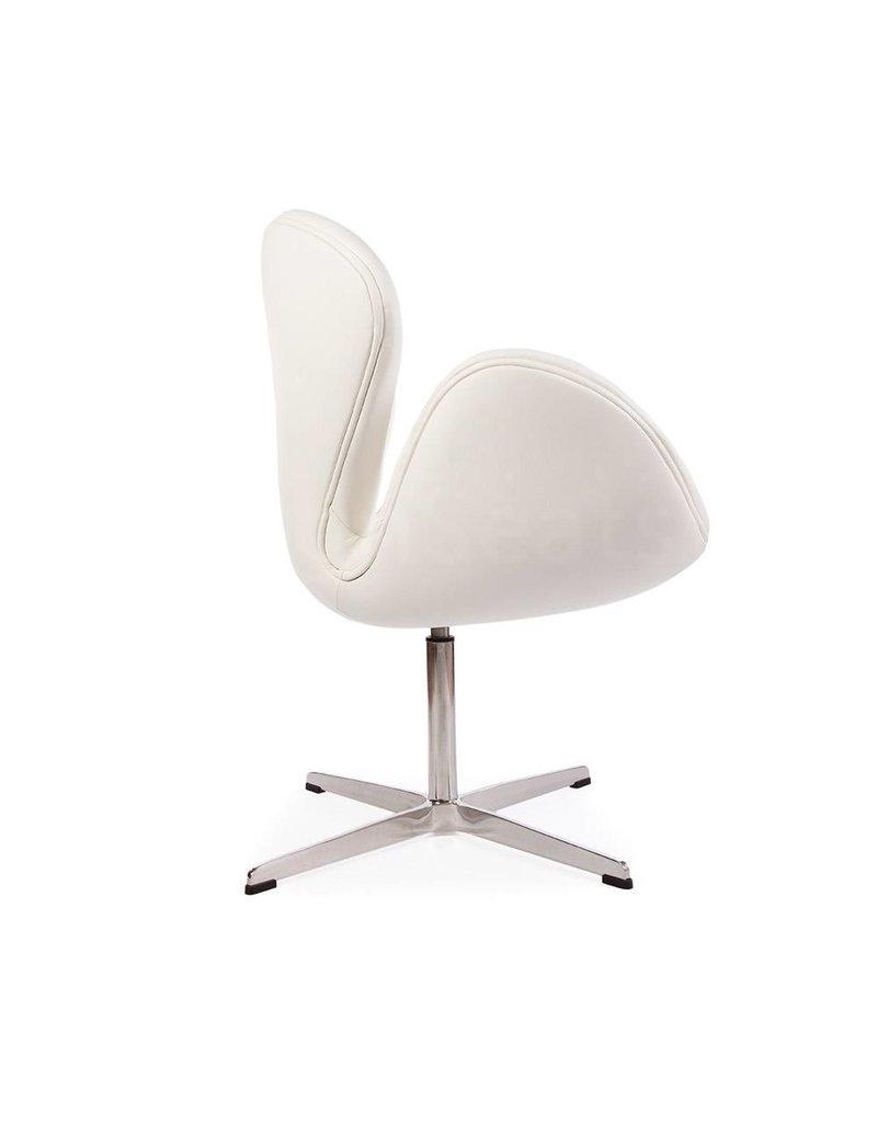 Swan chair Wit Leer