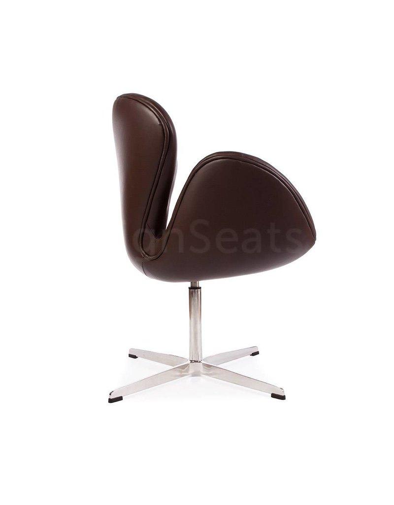 Swan chair Bruin Leer
