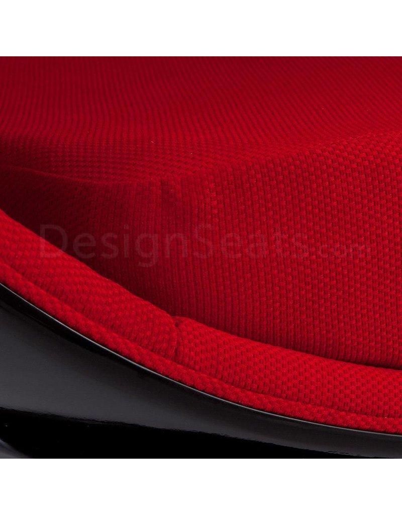 Black Ball Globe Lounge Chair zwart-rood