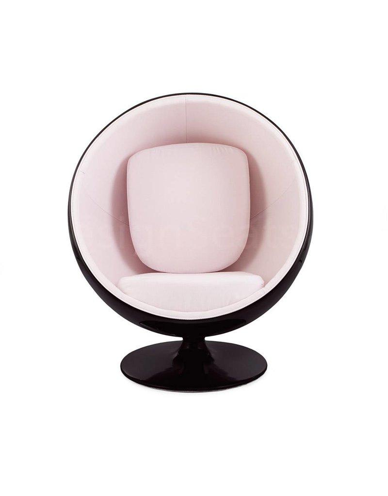 Black Ball Globe Lounge Chair black-white