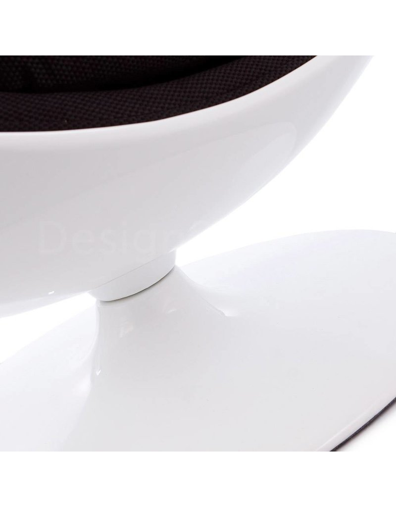 Ball Globe Lounge Chair white-black