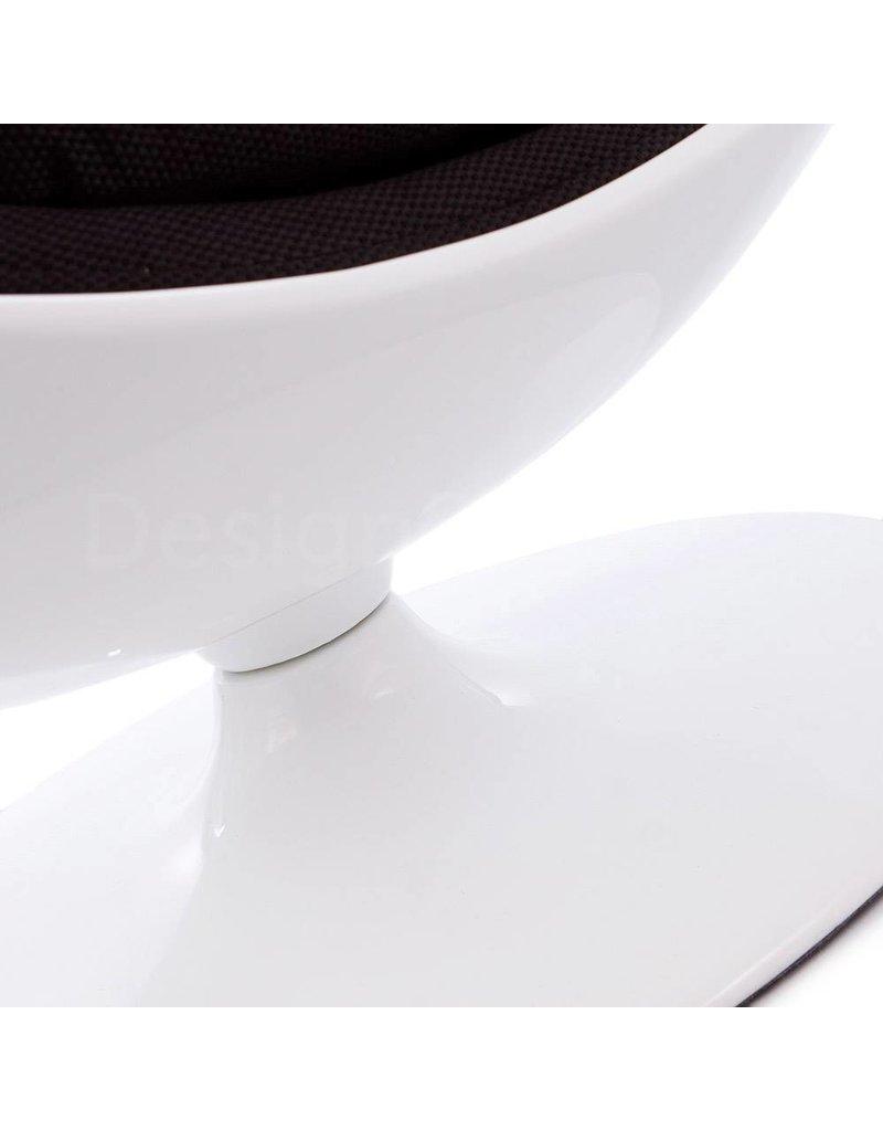 Ball Globe Lounge Chair wit-zwart