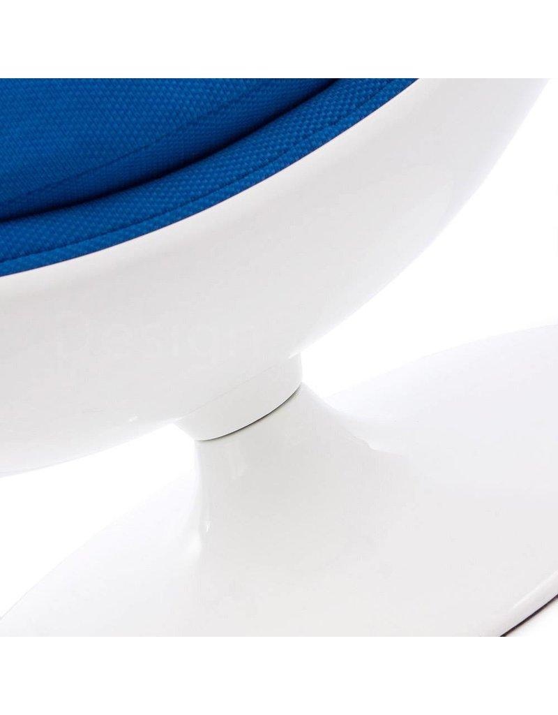 Ball Globe Lounge Chair white-blue