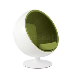 Ball Globe Lounge Chair wit-groen