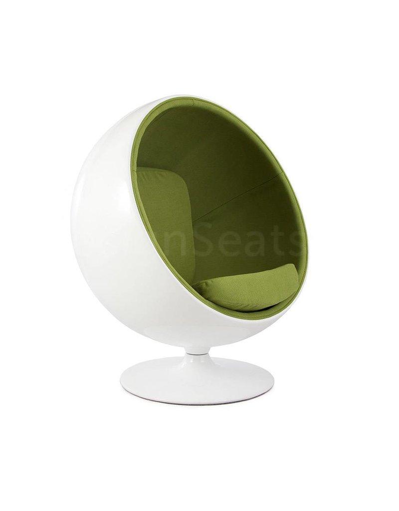 Ball Globe Lounge Chair White Green