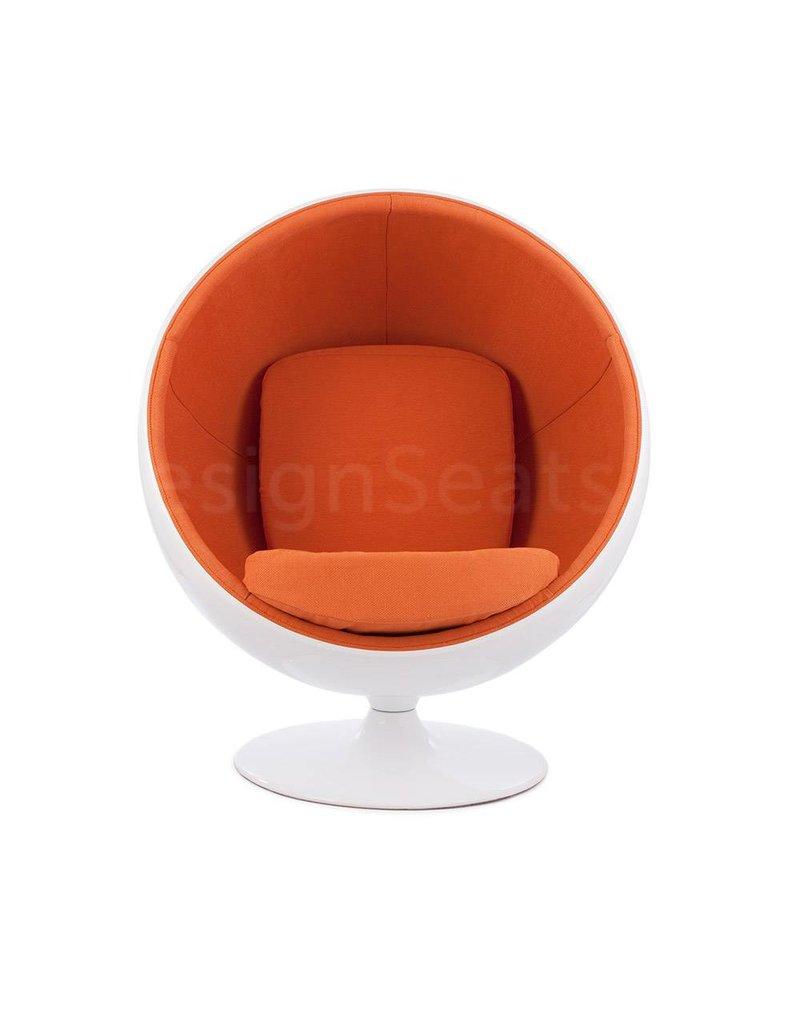 Ball Globe Lounge Chair white-orange