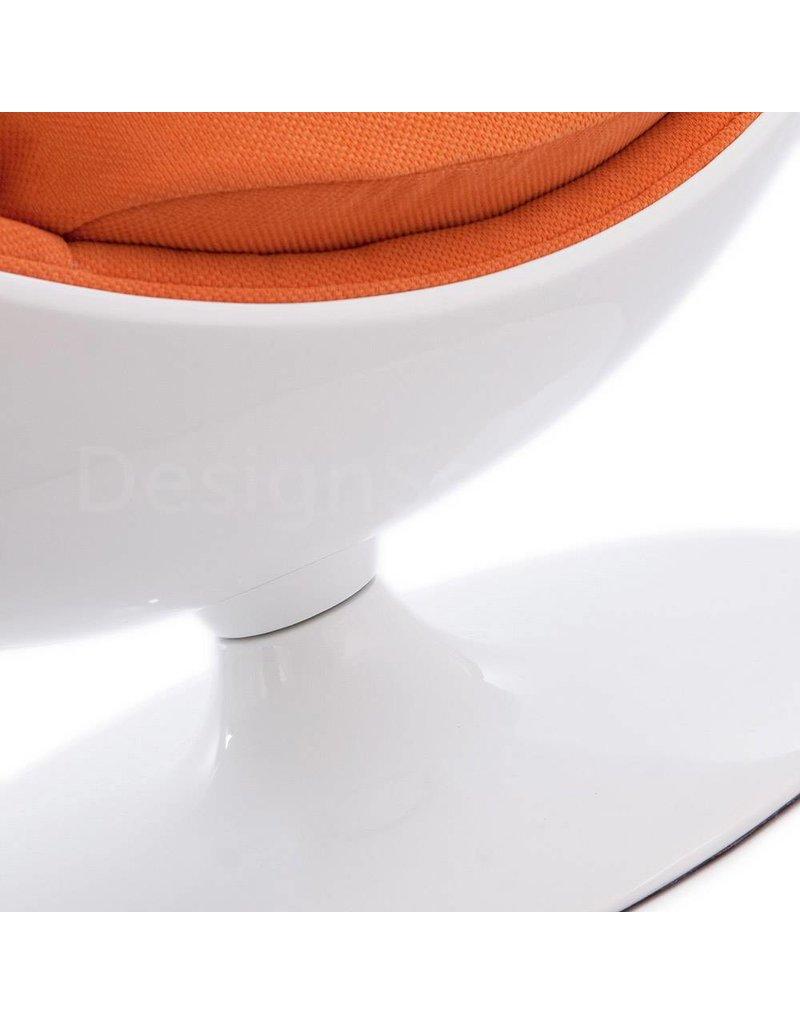 Ball Globe Lounge Chair wit-oranje