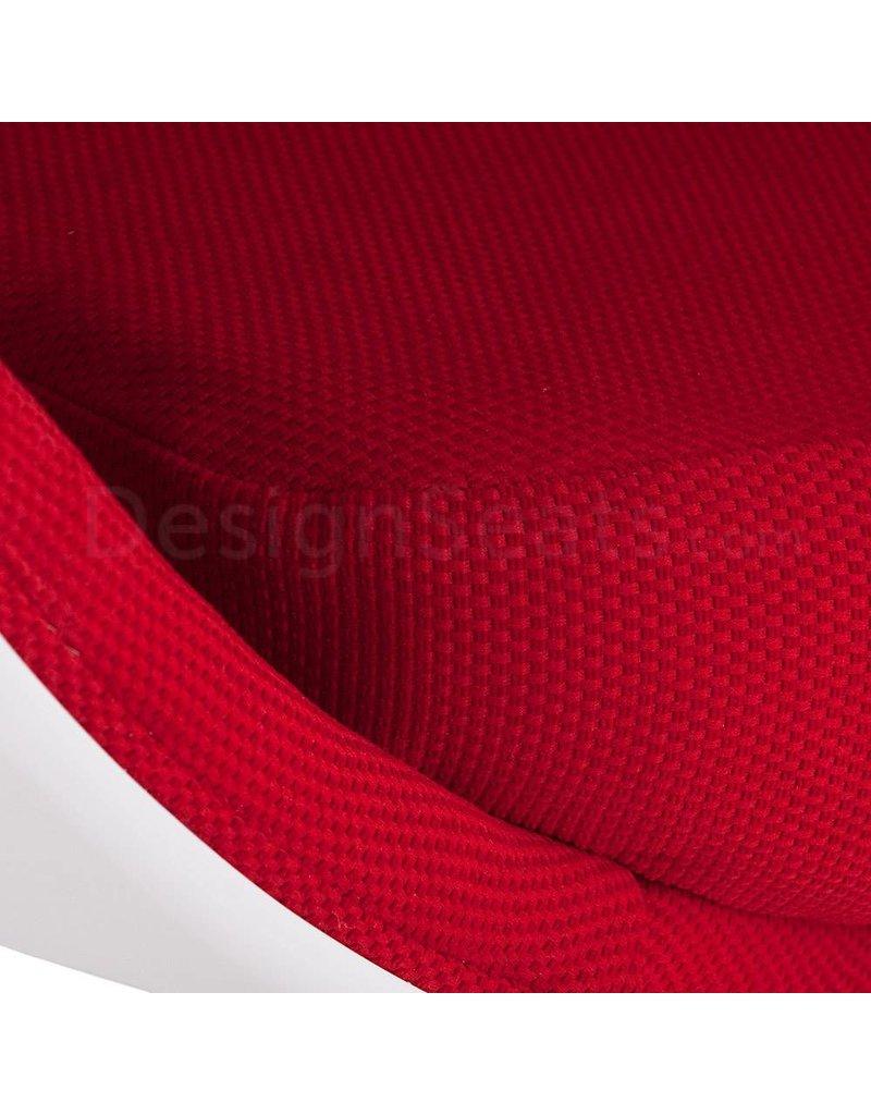 Ball Globe Lounge Chair white-red
