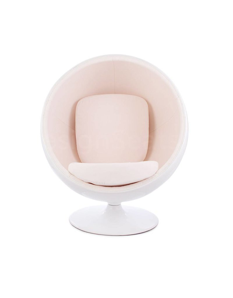 Ball Globe Lounge Chair white-white