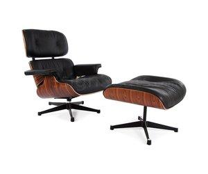 Eames Stoel Origineel : Eames lounge chair rosewood zwart design seats design stoelen