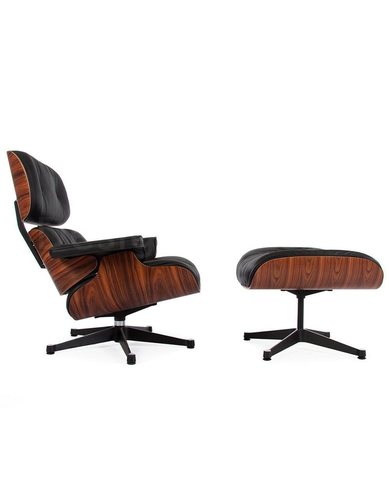 Eames Stoel Lounge.Eames Lounge Chair Rosewood Black