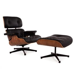 Eames Lounge Chair Walnut Zwart