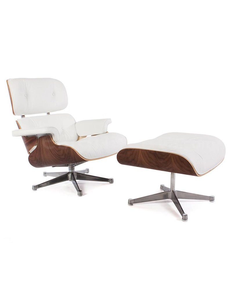 Eames Lounge Chair Walnut Wit