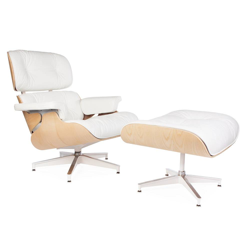Eames Lounge Stoel.Eames Lounge Chair Exclusive White Design Seats Buy Designer