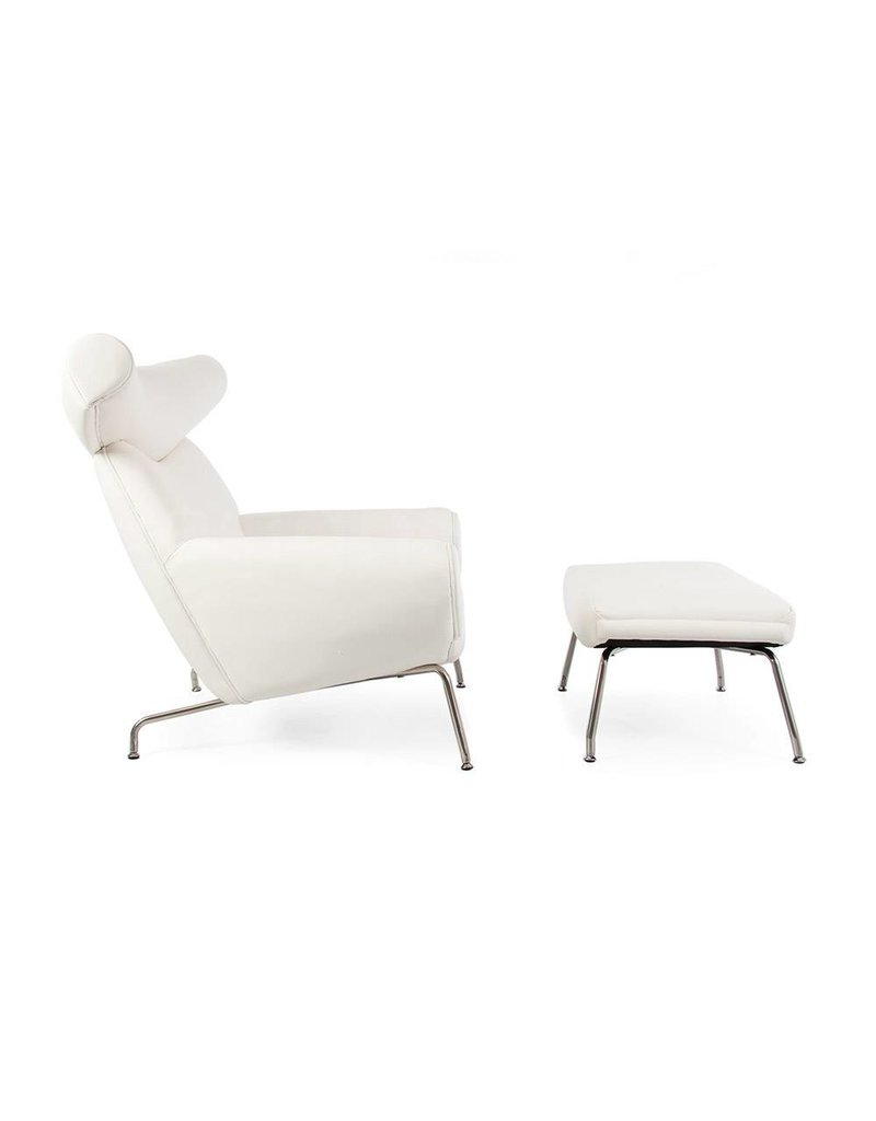 Ox chair Wit-Leer