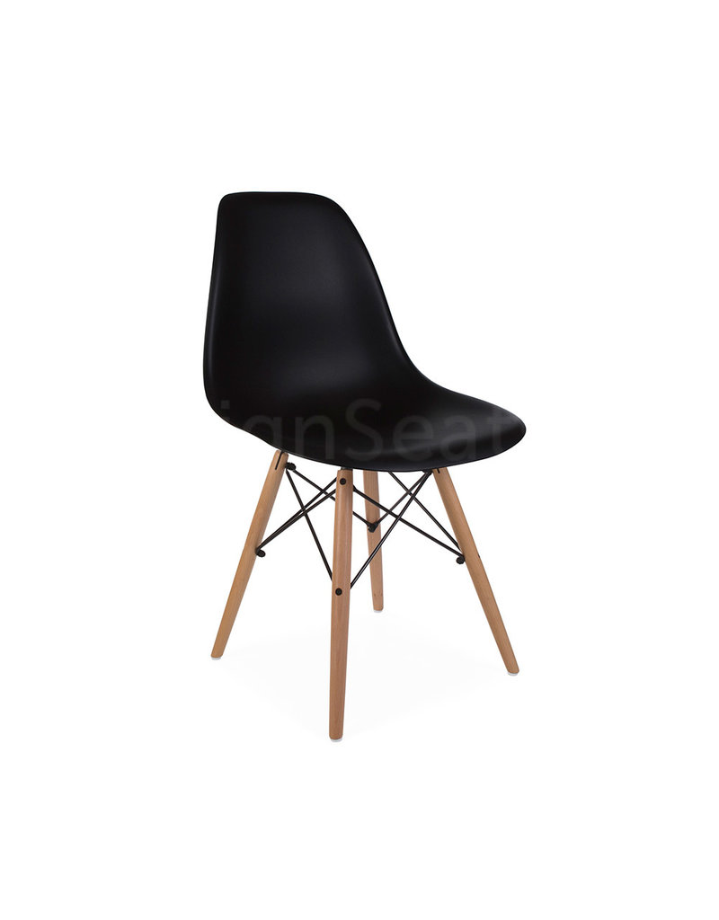 Astounding Dsw Eames Design Dining Chair Black Inzonedesignstudio Interior Chair Design Inzonedesignstudiocom