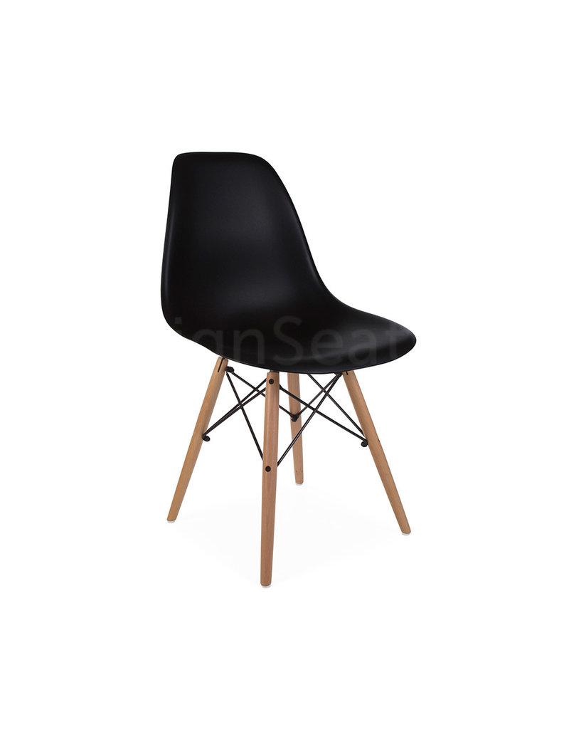DSW Kinderstoel Eames Zwart