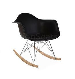 RAR Eames Schommelstoel Zwart