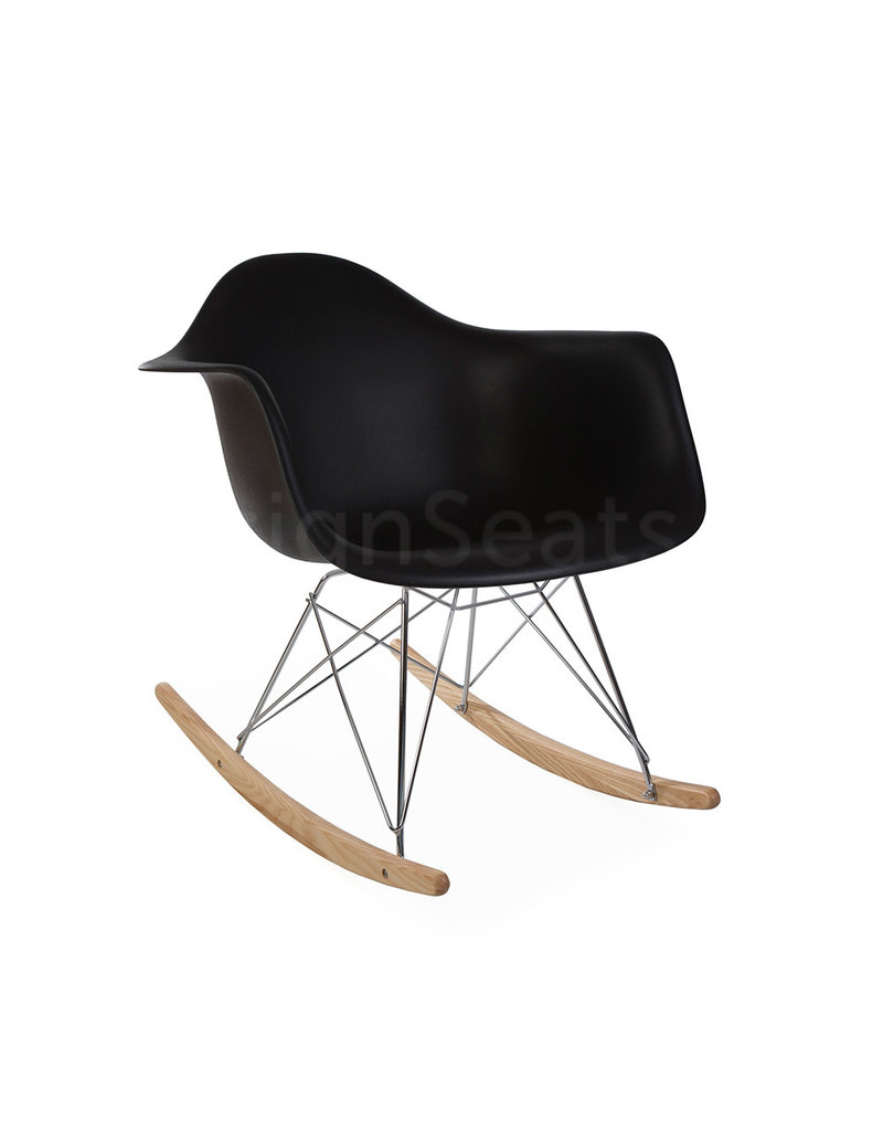 Eames Rar Schommelstoel Zwart.Rar Eames Schommelstoel Zwart Design Seats Design Stoelen Online