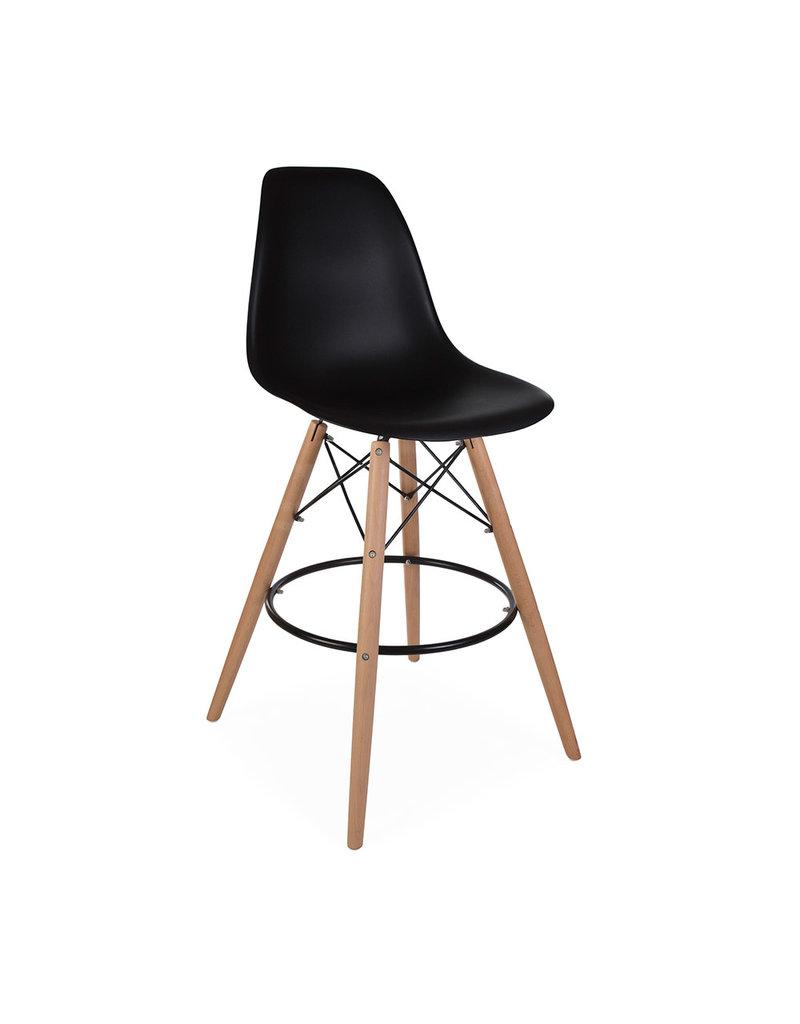 Wonderlijk DSW BAR Eames Barkruk Zwart - Design Seats - Design stoelen online AM-56