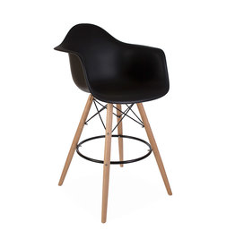 DAW BAR Eames Bar stool Black
