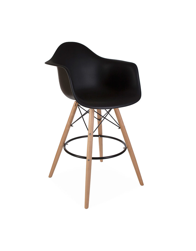 Enjoyable Daw Bar Eames Bar Stool Black Inzonedesignstudio Interior Chair Design Inzonedesignstudiocom