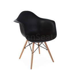 DAW Eames Stoel Zwart