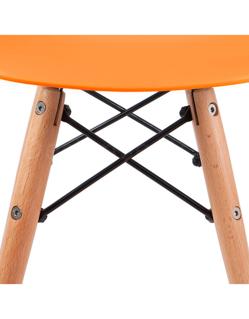 DSW Eames Design Dining Chair Orange