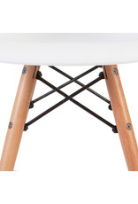 DAW Eames Kinderstoel Wit