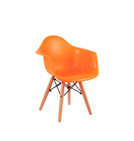 DAW Eames Kids chair Fel oranje