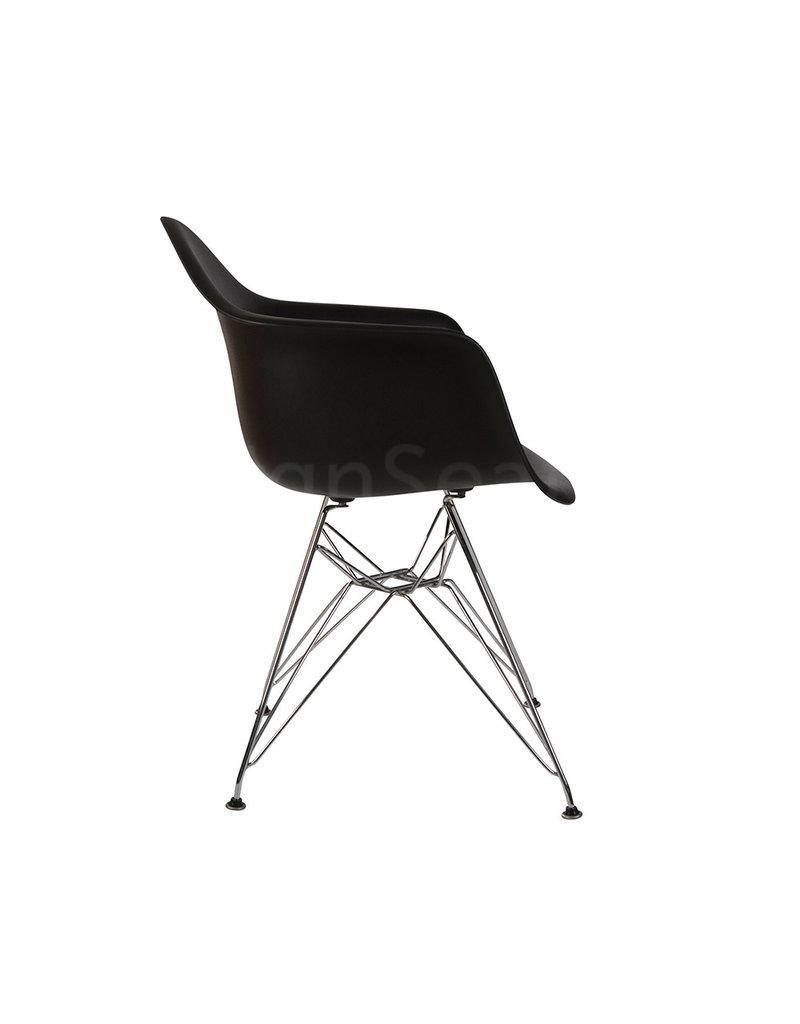 DAR Eames Kinderstoel Zwart