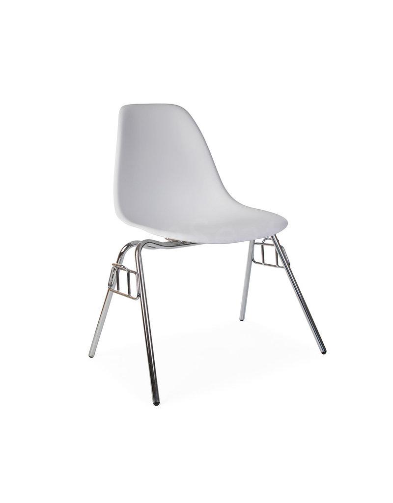 DSS Eames Design Stapelstoel Wit