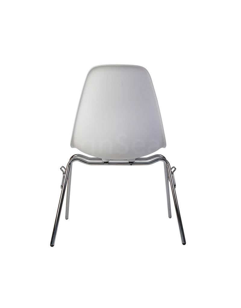 DSS Eames Design Stacking chair Wit